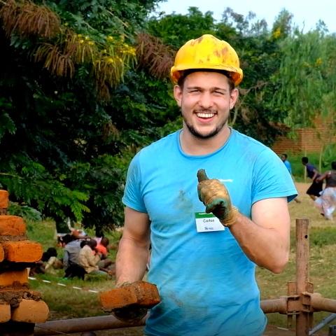 Carlos Platier bouwde mee met Habitat
